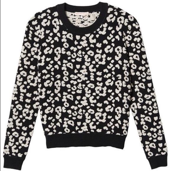 Modern und elegant in der Mode erstaunlicher Preis beste Sammlung Rebecca Taylor Leo Pullover Sweater Black / White